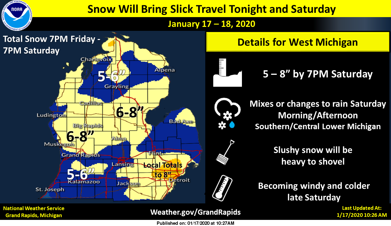 Winter Weather Advisory For Now The Michigan Weather Center