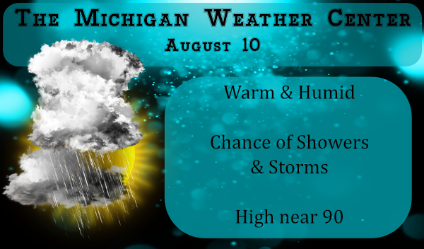Warm & Humid – Storm Chances – PM Update