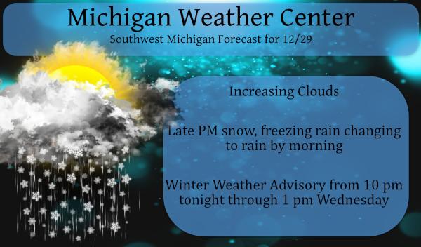 Winter Weather Advisory Begins Tonight